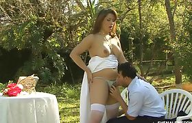 Shemale Wedding Outside in the Park Part 03