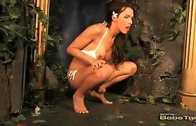 Blazing transsexual Danika Dreamz jacking off