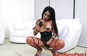 Big tits Tania ass play and solo masturbation