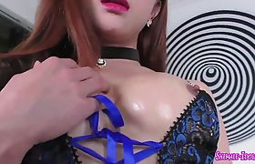 Asian tranny gets her ass filled