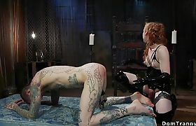 Big cock shemale anal fucks alt slave
