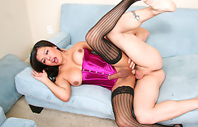 Busty TS Beauty Carmen Moore Gets It Hard