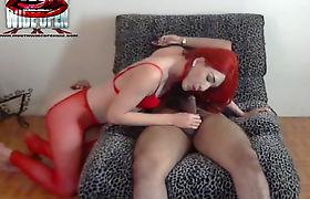 redhead ladyboy horny cum slut