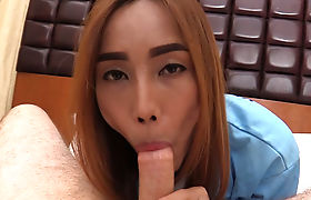 Small tits ladyboy used sex toy to satisfy herself