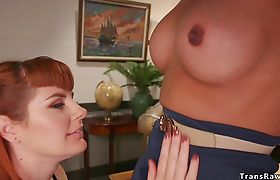 Big cock shemale anal fucks attorney