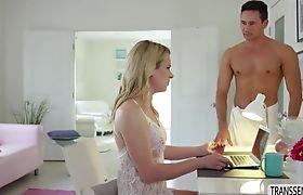 Stunning Tranny Nikki Vicious gets anal fucked doggystyle