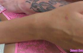 Insanely hot tranny gets her asshole ploughed hard