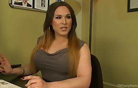 Lana's cock fucks Mia's feet and pussy