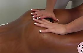 Trans masseuse gets her ass slammed