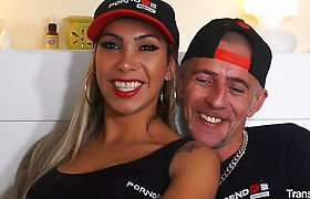 Beautiful tattooed shemale Mariana Ferraz gets her hot ass drilled