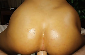 Busty Asian shemale sucks and fucks a strangers big cock