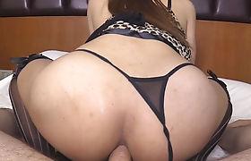 Curvy busty ladyboy gets her juicy ass banged bareback