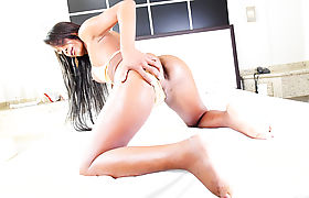 Exotic TS Gabriella Sucks and Fucks stud Tony Lee