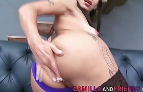Horny Latina Shemale Gets Fucked by Dude