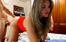 Hot Shemale Blowjob Her Boyfriend and Fuck
