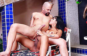 Experienced Tgirl Kelly Portela Makes Him Bounce on Her Hard Cock