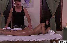 Ts Foxxy recieves a sizzling anal fuck by a horny stud