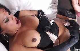 Busty tranny Bia Mastroianni loves Italian cock and dirty ass-fucking