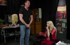 TS actress anal fucks male colleague