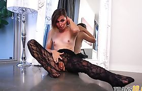Trans babe drilled by massive black dong