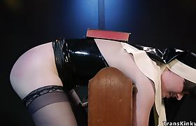 Shemale nun whipped and fucked