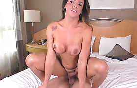 TS Melyna Merlin and horny man fucking each other's asses
