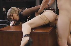 Lucky dudes bangs his Ts boss tight ass