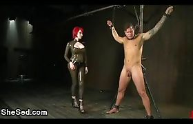 Superb tranny n hot guy bdsm