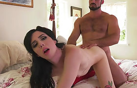 Lustful TS Annabelle Lane gets her twat rammed by hunky dude
