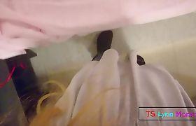 TGIRL CUMS IN HER PANTIES POV | LYNN MONROE