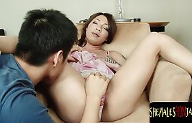 Cockteased newhalf enjoys assfucking with guy