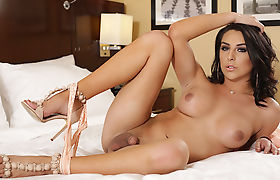 Gorgeous TS Aubrey Kate finally gets anal by bigcock