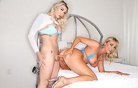 TS Aubrey Kate toys and fucks the big ass of milf Dana DeArmond