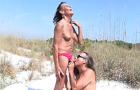 Jamie Sucks Michelle at the Beach