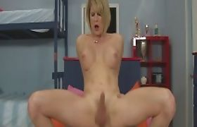 Huge boobs blonde shemale Delia De Lions asshole nailed