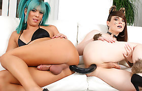 TS Kendra Sinclaire Enjoys Sex With Her Trans GF