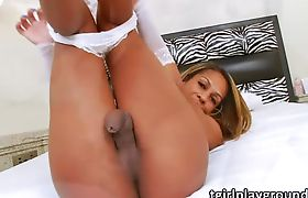 Latina Tbabe Bianca hammers her lover guys ass in bareback sex