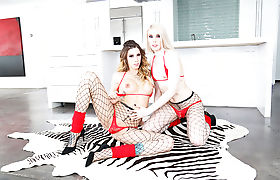 Pretty Shemales Alexandra Vexx and Casey Kisses insane anal