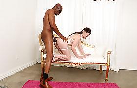 TS Natalie Mars hardcore interracial