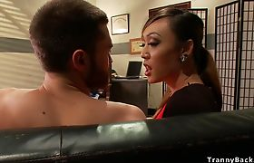 Tranny therapist anal fucks male patient