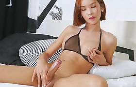 Asian Tranny Girl Mikki A Enjoys Masturbating