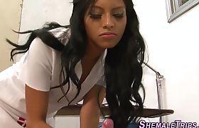 Ebony tgirls feet jizzed