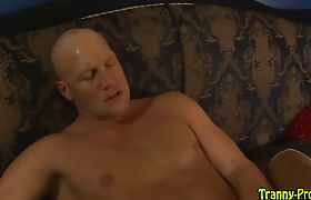 Black shemale gets facial after riding