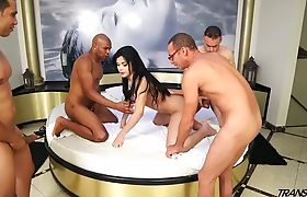 Bruna Butterfly First Gangbang! Part 2