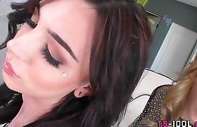 Tgirl slit fucks tgirls hole