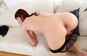 Pale and Bigtits TS Bailey Paris gets ass fucked