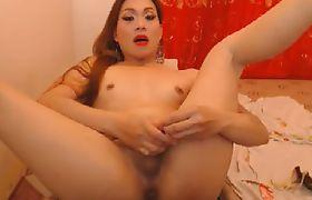 Sexy Hot Ladyboy Masturbate on Cam
