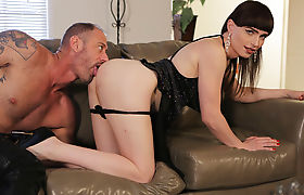 Gorgeous shemale Natalie Mars tight ass gets pounded