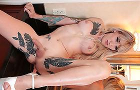 TS Lena Kelly shows her deepthroating skills to Sebastian Keys