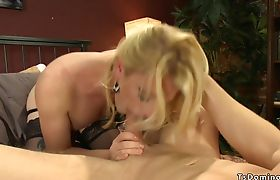 TS fucks and cums on dude